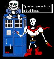 Undertale TARDIS by Doctorwithaspoon