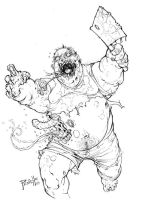 fat zombie by Fpeniche