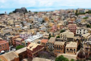Awesome Miniature view of Corfu Town by RobGroove