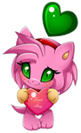 chao Amy Rose by Extra-Fenix