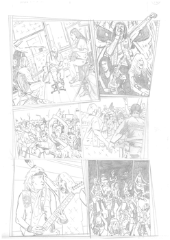 Iron Maiden page 16 pencils by DarrenEmond