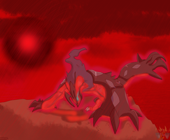 Yveltal ( Blood Will Rain) by ColorDrake