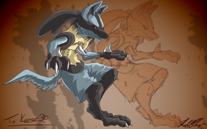 Lucario for Keese30 by DualityDreams