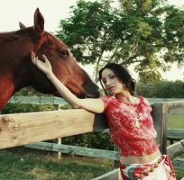 Horse and my fav model by RSPCA