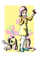 Human Fluttershy by Evil-Rick