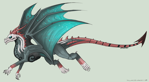 Dragon adoptable! (10 point start!) -OPEN- by Arklen