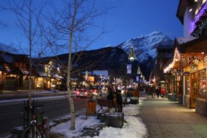 Banff at night by headoverhills62