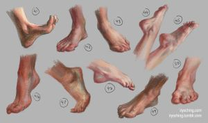 Feet Study 5 by irysching