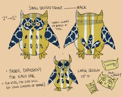 Owl plush concept by antiphile