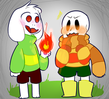 Request: A Prince and a Babybones by catfoxanimations