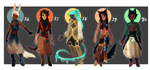 Adopts 36-40 [Auction- Closed] by sandflake-adoptables