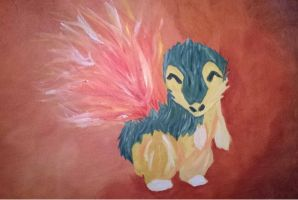 CyndaquilOilPainting by versaillesjewels