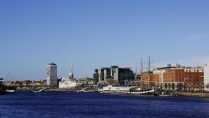 Upstream View over the Liffey by Smaragd01