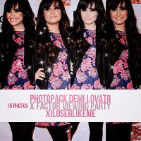 Demi Lovato X Factor Viewing Party by xiLoserLikeMe