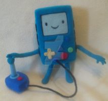 My Needle Felted Beemo/BMO Plushie by CatsFeltLings