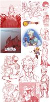 Sketch Dump: Everything by conmandamned