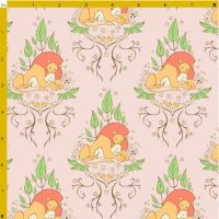 The Lion and the Lamb Fabric by aimeekitty