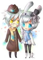 Chibi Couple by cytes
