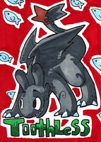 Toothless artcard by dragonwarriorsaba