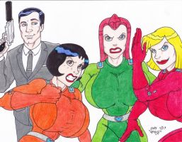 Archer and Totally Spies by Crash2014