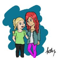 me and sarah de bono! by Lub-choo