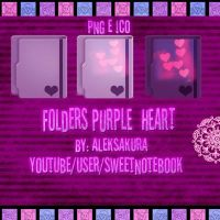 Purple folders icons by AlekSakura