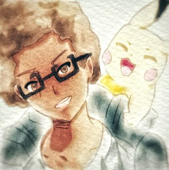 Me and pikachu by Rayiky