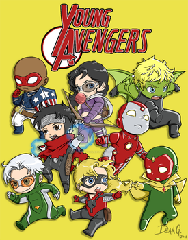 Young Avenger chibies by DeanGrayson