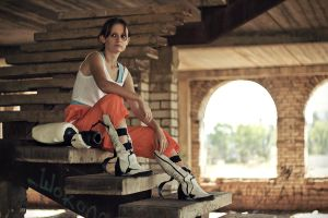 Chell cosplay by Lavi-Deak