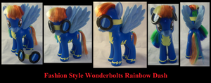 Fashion Style Rainbow Dash Wonderbolt by Gryphyn-Bloodheart