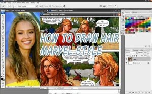 How to draw hair Marvel style by discipleneil777