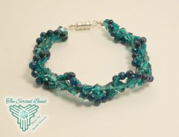 Teal Spiral Bracelet by TheSortedBead
