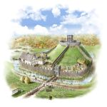 Motte and bailey castle by SteveRigby