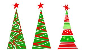 Christmas Trees Vector by shuallyo