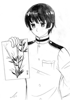 APH - Kiku Honda drew somethin by Inigirl226