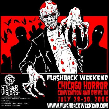 Flashback Weekend T-Shirt Art by SavageSinister