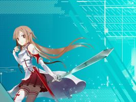 Asuna Wallpaper Tech theme by kirigawakazuto