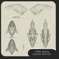 AMARIAN DROP SHIP..THE FLEA by Zorathust1