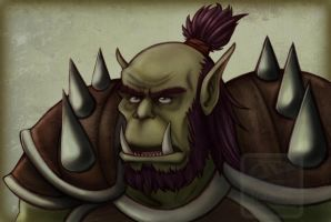 Xaldrin, the orc warrior by 77Shaya77