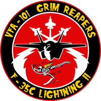 VFA-101 Grim Reapers F-35C Flight Insignia by viperaviator