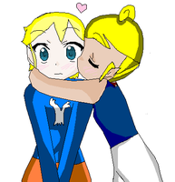 tetra x link kiss on cheek by ilovezelda504