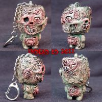 Munny Style Zombie Keychain by Undead-Art