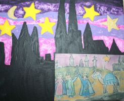 cologne dome painting for christmas by ingeline-art