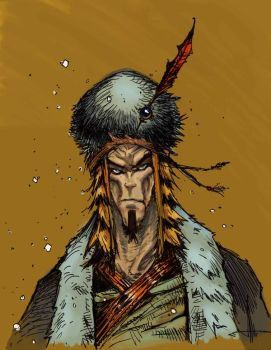 Mongol warrior color by ArcherMonster