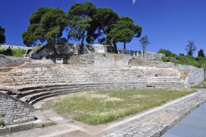 small amphitheather in Pula by marlene-stock