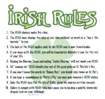 Rules the Irish live by... by Irish-Flower