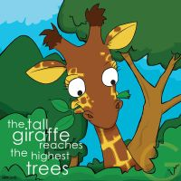 the tall giraffe by striffle
