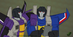 G1 - Skywarp and Thundercracker by JadeRaven93