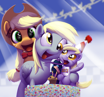 Dinky's Birthday Party by MoonlitBrush