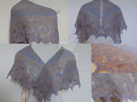 Little lace shawlette by FearlessFibreArts